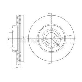 Bremsscheibe Bremsscheibendicke: 22,0mm, Lochanzahl: 4, Ø: 239,0mm mit OEM-Nummer 60 514 881