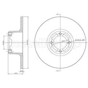 Bremsscheibe Bremsscheibendicke: 9,6mm, Lochanzahl: 4, Ø: 213,3mm mit OEM-Nummer 21 A 2612