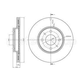 Bremsscheibe Bremsscheibendicke: 20,0mm, Lochanzahl: 4, Ø: 257,0mm mit OEM-Nummer 517 49 124