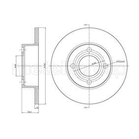 Bremsscheibe Bremsscheibendicke: 13,0mm, Lochanzahl: 4, Ø: 256,0mm mit OEM-Nummer 895615301
