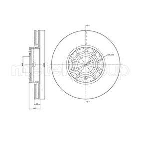 Bremsscheibe Bremsscheibendicke: 24,9mm, Lochanzahl: 5, Ø: 287,7mm mit OEM-Nummer 4A0 615 301 E