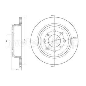 Спирачен диск 23-0267 25 Хечбек (RF) 2.0 iDT Г.П. 2004