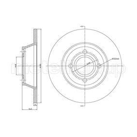 Bremsscheibe Bremsscheibendicke: 12,9mm, Lochanzahl: 4, Ø: 280,0mm mit OEM-Nummer 8A0615301