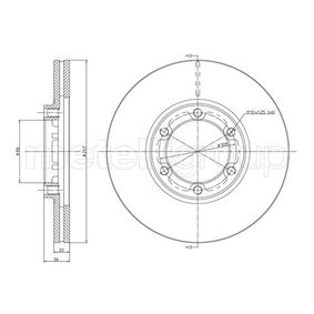 Bremsscheibe Bremsscheibendicke: 22,0mm, Lochanzahl: 6, Ø: 257,5mm mit OEM-Nummer 8-94372435-0