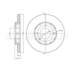 Bremsscheibe Bremsscheibendicke: 18,0mm, Lochanzahl: 4, Ø: 239,0mm mit OEM-Nummer 6N0615301F