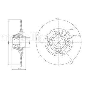 Bremsscheibe Bremsscheibendicke: 8,0mm, Lochanzahl: 4, Ø: 238,0mm mit OEM-Nummer 7700 805 148