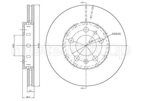 Bremsscheiben 23-0390C METELLI 23-0390C in Original Qualität