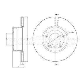 Bremsscheibe Bremsscheibendicke: 22,0mm, Lochanzahl: 5, Ø: 296,0mm mit OEM-Nummer 34 11 1 164 839