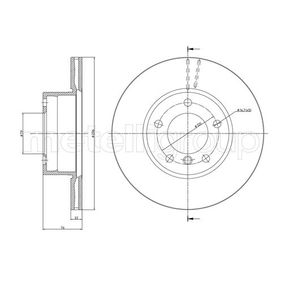 Bremsscheibe Bremsscheibendicke: 22,0mm, Lochanzahl: 5, Ø: 296,0mm mit OEM-Nummer 34 111 163 013