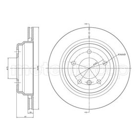 Bremsscheibe Bremsscheibendicke: 20,0mm, Lochanzahl: 5, Ø: 298,0mm mit OEM-Nummer 34 211 163 153