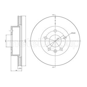 Bremsscheibe Bremsscheibendicke: 22,0mm, Lochanzahl: 5, Ø: 276,0mm mit OEM-Nummer A63 842 10112