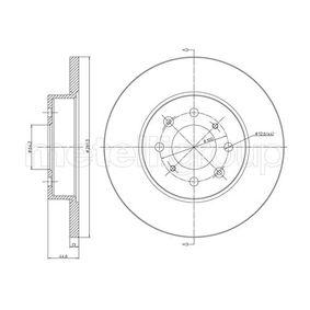 METELLI  23-0430 Спирачен диск дебелина на спирачния диск: 13,0мм, брой на дупките: 4, Ø: 262,0мм