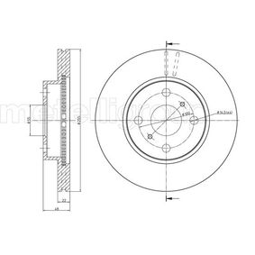 Bremsscheibe Bremsscheibendicke: 22,0mm, Lochanzahl: 4, Ø: 255,0mm mit OEM-Nummer 43512 12 550