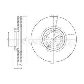 Bremsscheibe Bremsscheibendicke: 24,3mm, Lochanzahl: 5, Ø: 254,0mm mit OEM-Nummer 502 9815