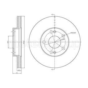 Bremsscheibe Bremsscheibendicke: 22,0mm, Lochanzahl: 5, Ø: 262,0mm mit OEM-Nummer 77.01.205.841