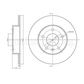 Bremsscheibe Bremsscheibendicke: 10,0mm, Lochanzahl: 5, Ø: 264,0mm mit OEM-Nummer 9117772