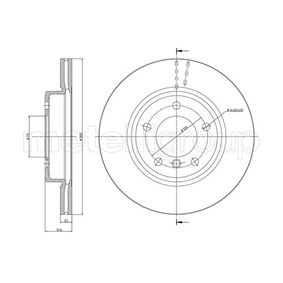 Bremsscheibe Bremsscheibendicke: 21,9mm, Lochanzahl: 5, Ø: 300,0mm mit OEM-Nummer 3411 6 766 224