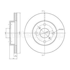 Bremsscheibe Bremsscheibendicke: 18,0mm, Lochanzahl: 4, Ø: 235,0mm mit OEM-Nummer 43512-52050