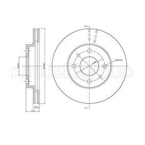 Bremsscheibe Bremsscheibendicke: 20,0mm, Lochanzahl: 4, Ø: 239,0mm mit OEM-Nummer 2110 3501070