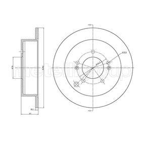 Bremsscheibe Bremsscheibendicke: 10,0mm, Lochanzahl: 5, Ø: 284,0mm mit OEM-Nummer 584113A300