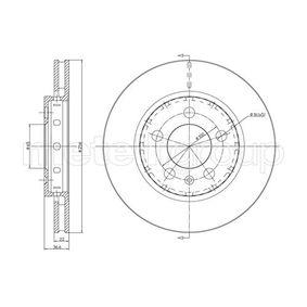 Bremsscheibe Bremsscheibendicke: 22,0mm, Lochanzahl: 5, Ø: 256,0mm mit OEM-Nummer 8L0.615.601