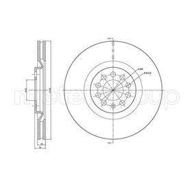 Bremsscheibe Bremsscheibendicke: 25,0mm, Lochanzahl: 5, Ø: 312,0mm mit OEM-Nummer 8N0.615.301A