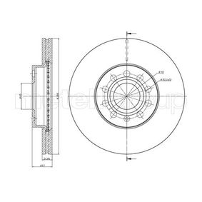 Bremsscheibe Bremsscheibendicke: 25,0mm, Lochanzahl: 5, Ø: 288,0mm mit OEM-Nummer 5C0 615 301 A