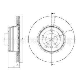 Bremsscheibe Bremsscheibendicke: 24,0mm, Lochanzahl: 5, Ø: 309,8mm mit OEM-Nummer 34 11 6 764 021