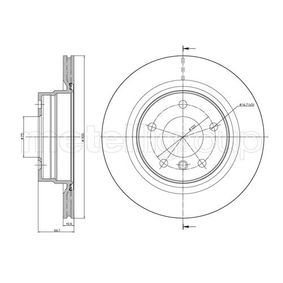 Bremsscheibe Bremsscheibendicke: 20,0mm, Lochanzahl: 5, Ø: 300,0mm mit OEM-Nummer 34.21.6.764.651