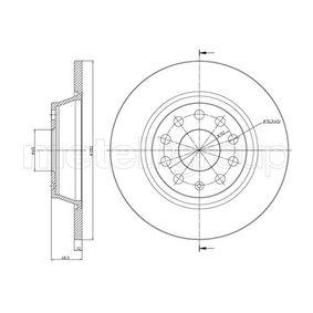 Спирачен диск дебелина на спирачния диск: 12,0мм, брой на дупките: 5, Ø: 282,0мм с ОЕМ-номер 1K0615601AD