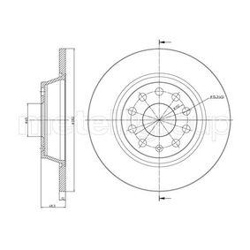Bremsscheibe Bremsscheibendicke: 12,0mm, Lochanzahl: 5, Ø: 282,0mm mit OEM-Nummer 1K0.615.601M