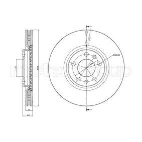 Bremsscheibe Bremsscheibendicke: 28,0mm, Lochanzahl: 5, Ø: 305,0mm mit OEM-Nummer 517 67 381