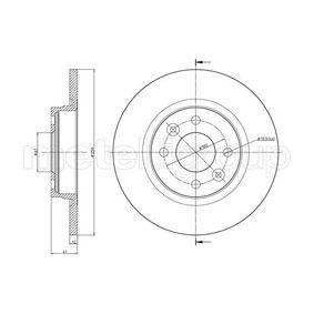 Bremsscheibe Bremsscheibendicke: 12,0mm, Lochanzahl: 4, Ø: 259,0mm mit OEM-Nummer 8200 123 117