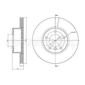 Bremsscheibe Bremsscheibendicke: 24,0mm, Lochanzahl: 5, Ø: 300,0mm mit OEM-Nummer 3411 6854 998
