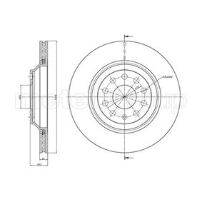 Bremsscheibe Bremsscheibendicke: 22,0mm, Lochanzahl: 5, Ø: 310,0mm mit OEM-Nummer 5Q0 615 601 D