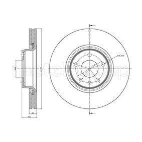 Bremsscheibe Bremsscheibendicke: 30,0mm, Lochanzahl: 5, Ø: 321,0mm mit OEM-Nummer 4F0 615 301 E