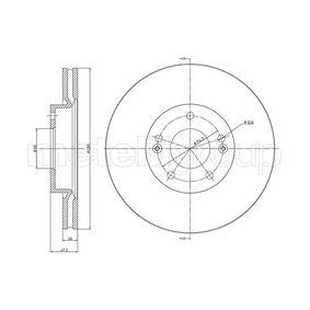 Bremsscheibe Bremsscheibendicke: 26,0mm, Lochanzahl: 5, Ø: 280,0mm mit OEM-Nummer 51712-2C-000