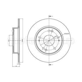 Disco de freno 23-0957C CIVIC 8 Hatchback (FN, FK) 1.4 (FK1) ac 2016