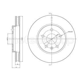 Bremsscheibe Bremsscheibendicke: 30,0mm, Lochanzahl: 5, Ø: 296,0mm mit OEM-Nummer 5 69 063
