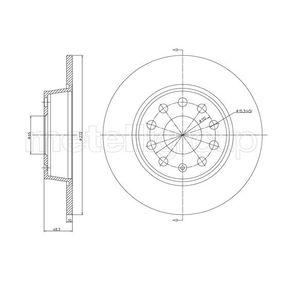 Bremsscheibe Bremsscheibendicke: 10,0mm, Lochanzahl: 5, Ø: 272,0mm mit OEM-Nummer 5Q0615601D