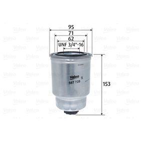 Kraftstofffilter Höhe: 153mm mit OEM-Nummer 164037F40B
