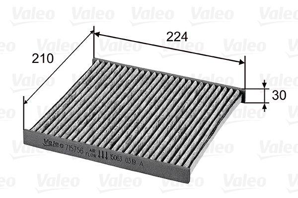 Innenraumfilter 715756 VALEO 715756 in Original Qualität