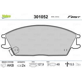 Bremsbelagsatz, Scheibenbremse Breite: 127,9mm, Höhe: 49mm, Dicke/Stärke: 15,5mm mit OEM-Nummer 5810 124B00