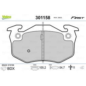 2001 Renault Clio Mk2 1.5 dCi Brake Pad Set, disc brake 301158