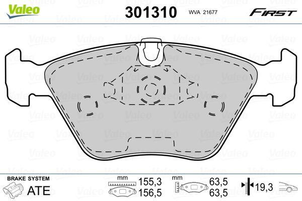 Bremsbeläge 301310 VALEO 301310 in Original Qualität