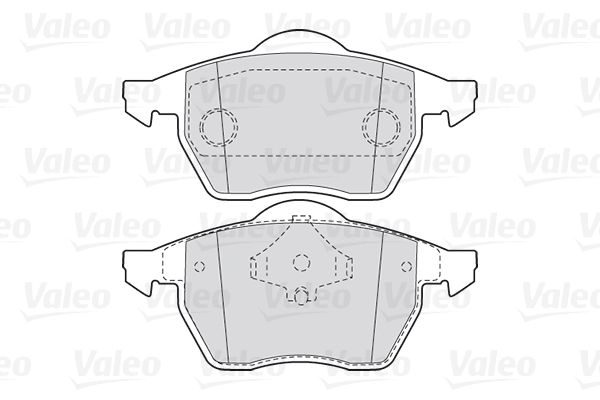 Bremsbeläge 301355 VALEO 301355 in Original Qualität