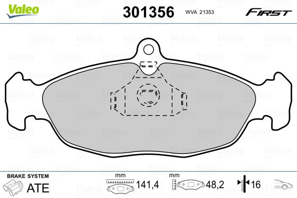 Артикул № 301356 VALEO Цени