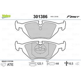 Bremsbelagsatz, Scheibenbremse Breite: 123,1mm, Höhe: 44mm, Dicke/Stärke: 16,5mm mit OEM-Nummer 34 21 1 162 446.