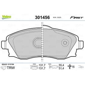 Bremsbelagsatz, Scheibenbremse Breite 2: 131,7mm, Breite: 131,7mm, Höhe 2: 51,4mm, Höhe: 55,4mm, Dicke/Stärke 2: 16mm, Dicke/Stärke: 16mm mit OEM-Nummer 9200108
