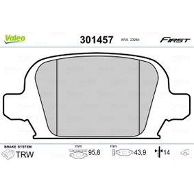 Bremsbelagsatz, Scheibenbremse Breite: 96mm, Höhe: 43,9mm, Dicke/Stärke: 14mm mit OEM-Nummer 9200132